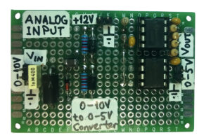 0-10V to 0-5V signal converter - analogue input module